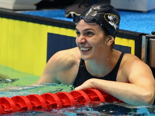 Even Olympic medalists aren't safe in the pool against Lexington grad Hannah Stevens.