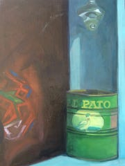 """""""El Pato"""" by Tauna Cole is among works featured in """"We Should Have Told You All This Before"""" at Unsettled Gallery in Las Cruces."""