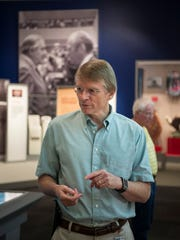 Donald Holloway is curator at Gerald R. Ford Museum and explained  the life and times of Grand Rapids' favored son and only person from Michigan to serve as president during a tour on Aug. 19, 2017.