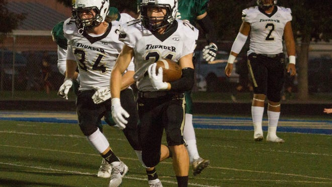 Snow Canyon football battles Desert Hills High for placement in the state finals Thursday, Oct. 19, 2017.