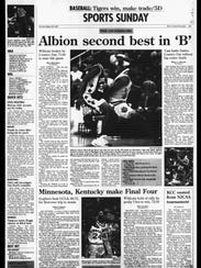 Battle Creek Sports History - Week of March 23, 1997