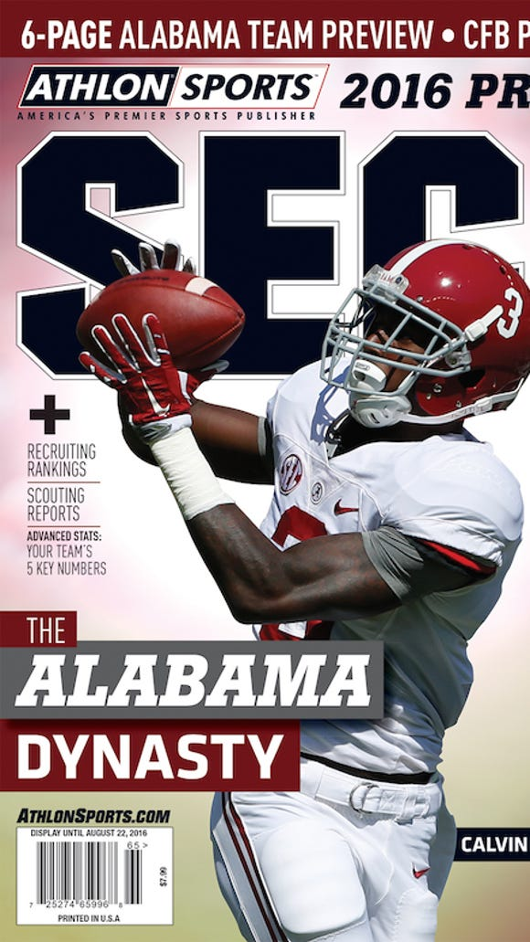 Calvin Ridley graces the regional cover of Athlon's 2016 preview magazine.