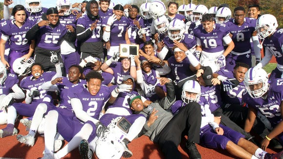 New Rochelle defeated Clarkstown South 40-15 in the