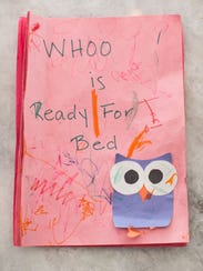 """The original """"Whoo is Ready for Bed?"""" manuscript written"""