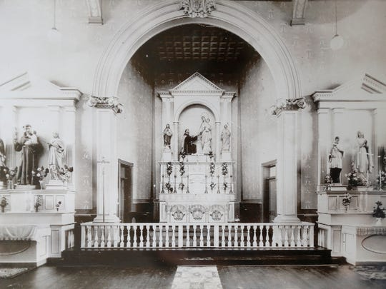 A historical photo of the Ysleta Mission provided by the Catholic Diocese of El Paso.