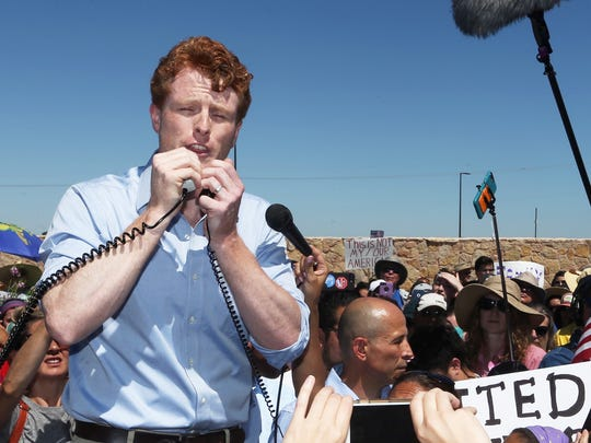 U.S. Rep. Joseph Kennedy III, D-Mass., arrives at the