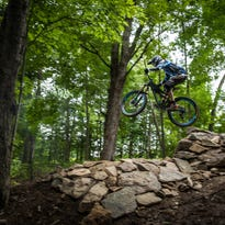 Cycling advocates hold ribbon-cutting ceremony at Sylvan Hill Mountain Bike Park