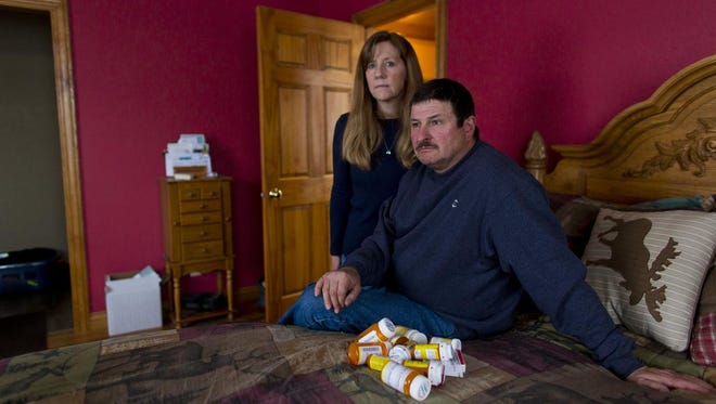 Marvin and Linda Simcakoski of Stevens Point are the parents of veteran Jason Simcakoski, who had been prescribed a cocktail of 14 drugs by the VA.