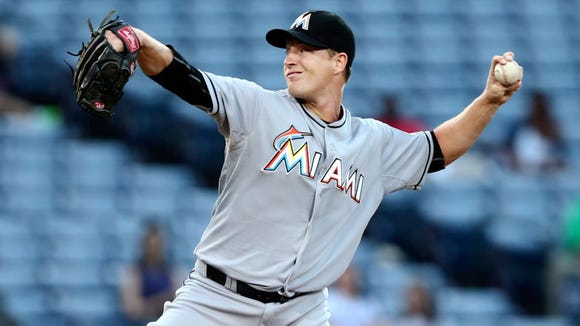 Roberson alum Chris Narveson pitched for the Miami Marlins this past season.