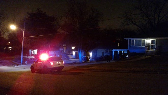 Police responded to a house on Southwest Seventh Street in Des Moines on a report of a shooting Feb. 23.