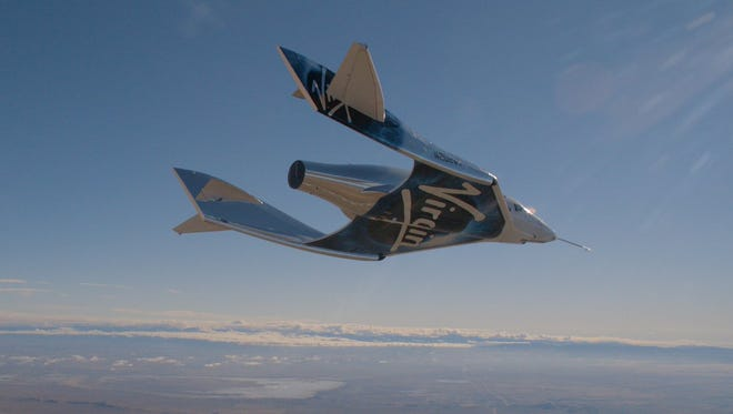 Virgin Galactic's space tourism rocket plane VSS Unity soared over the Mojave Desert on its third powered test flight.