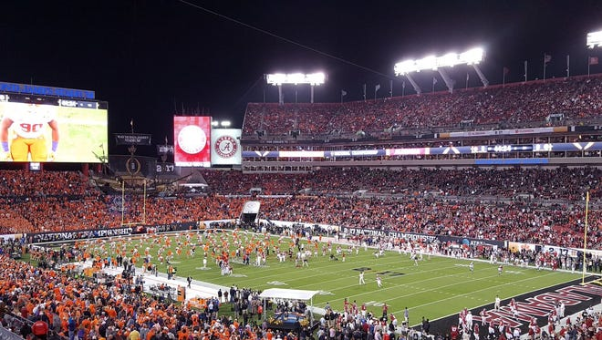 Alabama and Clemson will play for the 2016 national championship Monday night at Raymond James Stadium in Tampa.