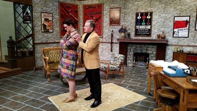 Myra (Ronni Wolfe) receives some reassurance from her husband, Sidney (Ashley Hurd).