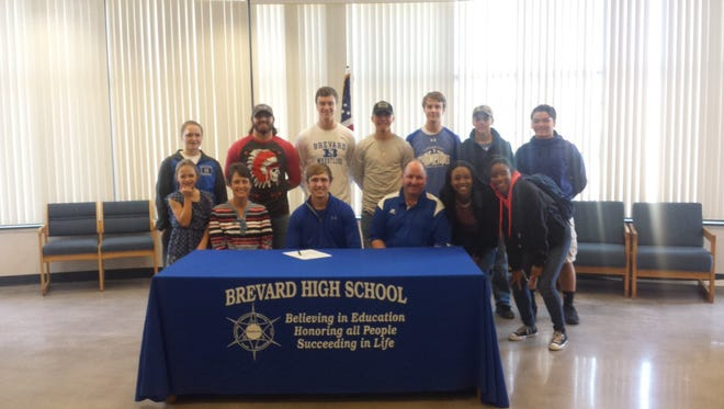 Brevard senior Nick Cabe has signed to play college football for Mars Hill.