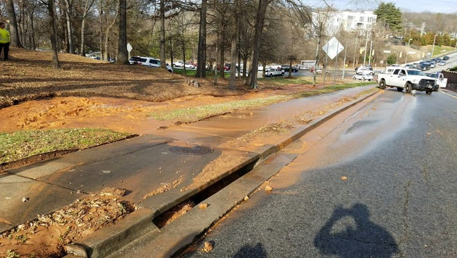 The ramp from Stone Avenue to East North Street has closed due to flooding