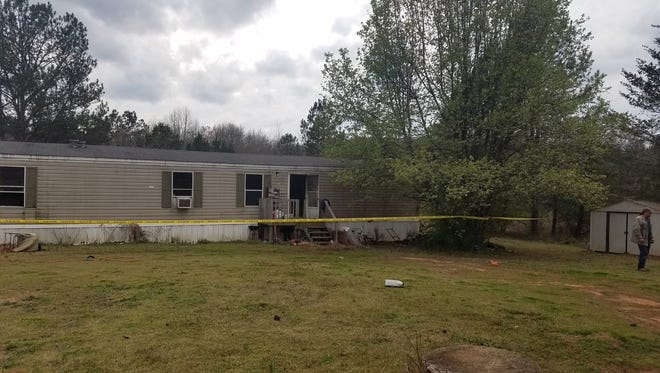 A dog died when this home on George Edward Drive south of Anderson caught fire on Monday afternoon.