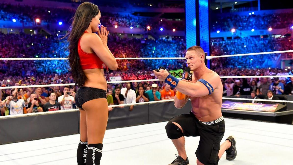 Wrestlemania 33 A First John Cena S Marriage Proposal To Nikki Bella