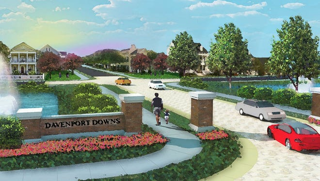 A rendering showing how the Davenport Downs subdivision would've looked  under a previous development plan.