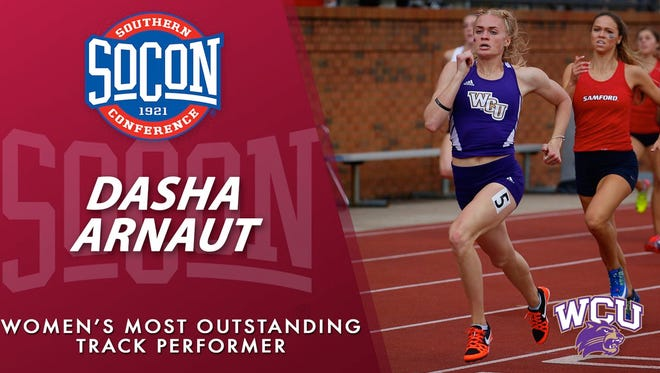 Roberson graduate Dasha Arnaut has been named the Southern Conference's Most Outstanding Women's Track Performer for this season.