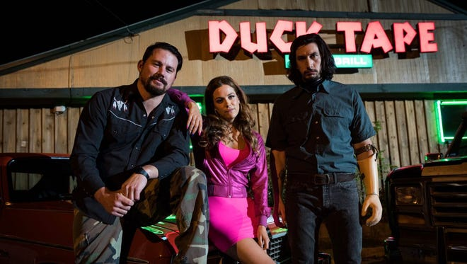 """Channing Tatum, Riley Keogh and Adam Driver star in the film """"Logan Lucky."""" Tatum will appear with director Steven Soderbergh in Knoxville for a charity premiere of the film on Aug. 9."""