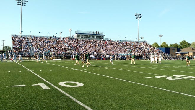 Perry Meridian unveiled its new stadium Friday night.