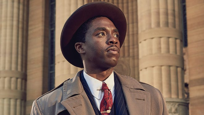 "Anderson native Chadwick Boseman plays Thurgood Marshall in the movie ""Marshall""."