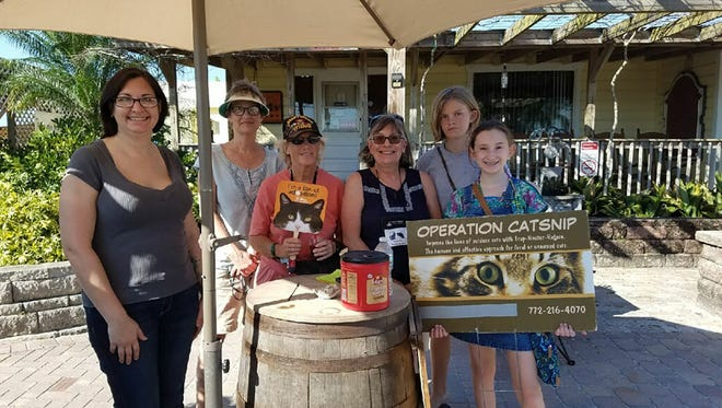 Members and supporters of Operation CatSnip at a fundraising event at Summer Crush Vineyard and Winery are, from left, Mandy Waits, Karen Lockhart, Diane Shaw, Sharon Cooper, Lily Ball, and Eva Fipps.