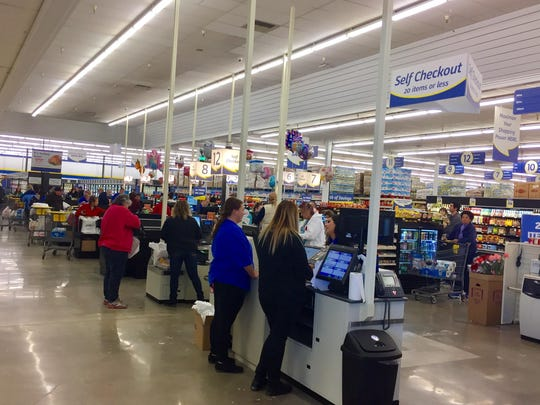 The checkout area in the new 47,000-square-foot FoodMaxx in Sparks. The opening Nov. 16 marked the 53rd store in the discount supermarket chain that started in California.