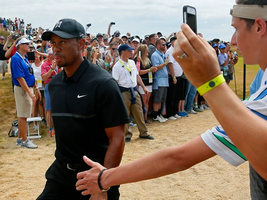 Tiger Woods and cellphones
