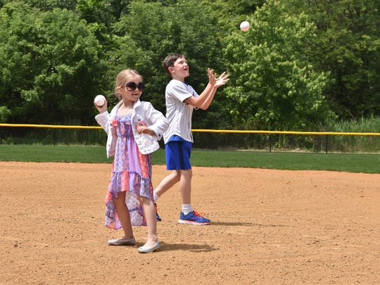 Shannon Dalton Forde' children Kendall and Nicholas, threw the first pitch at the newly named field. Shannon, a native of Little Ferry, worked for the New York Mets for 22 years and passed away from breast cancer in 2016.