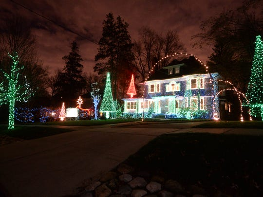 The owners of this Montclair home trimmed their evergreens