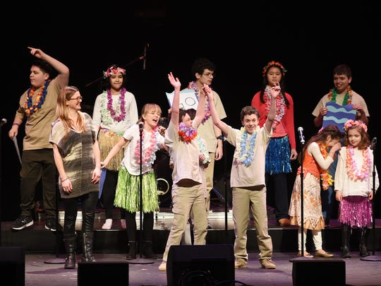 Students with special needs from The Banyan School perform onstage at bergenPAC in Englewood on Sunday, March 4, 2018.