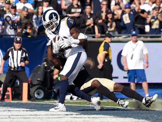 Rams receiver Sammy Watkins beats Saints cornerback