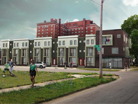 The Coe at West Village 12-unit complex will add eight townhouses, four apartments and about 1,200-square-feet of retail space to the corner of Van Dyke and Coe Avenue in the West Village neighborhood.