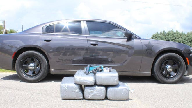 The Santa Rosa County Sheriff's Office and Florida Highway Patrol seized 113 pounds of marijuana during a traffic stop.