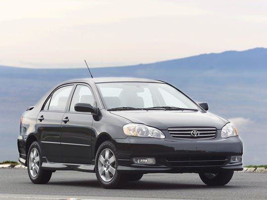 2003 Toyota Corolla S.  The Toyota Corolla is made by the UAW