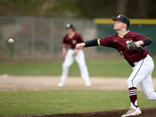 South Kitsap pitcher Jason Sauer learned how to throw sidearm during his junior season. He earned a complete-game victory over defending 4A state champion Puyallup in April.