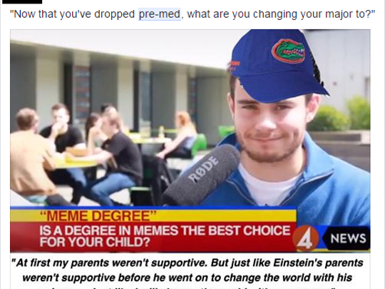 """A meme from """"Swampy UF memes for top ten public teens"""""""