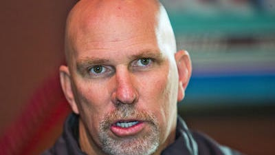 Hamilton football   coach Steve Belles likes the competition going on  this  spring  for  positions as he finds 16 new starters.