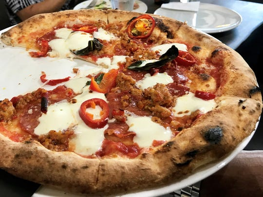 The spicy Pizza Diavola at the new MidiCi The Neapolitan
