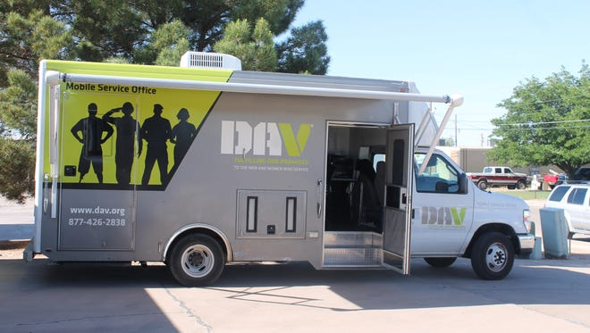 Mobile Service Center parked in front of DAV office