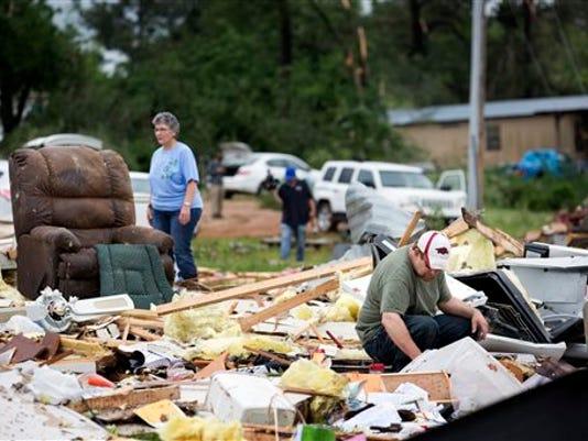 Two die in tornado