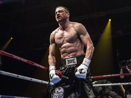 Jake Gyllenhaal stars as Billy Hope, a down-and-out boxer seeking redemption in Southpaw. (Scott Garfield/The Weinstein Company via AP)