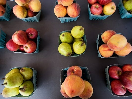 File photo; While early peaches and some early summer apples can be found now at several local farm markets and orchards, you might have to wait a bit longer for pears and more varieties of apples and peaches.