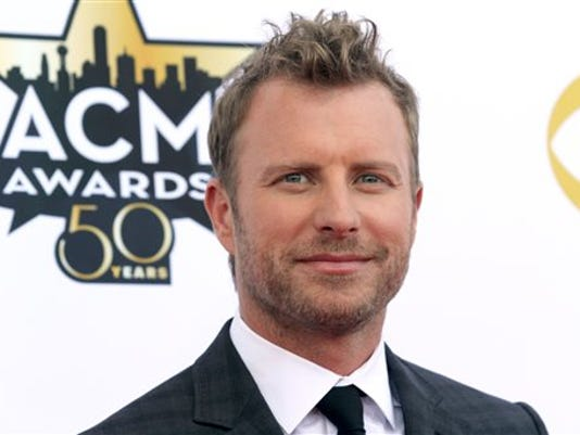 Dierks Bentley arrives at the 50th annual Academy of Country Music Awards at AT&T Stadium on Sunday, April 19, 2015, in Arlington, Texas. (Photo by Jack Plunkett/Invision/AP)