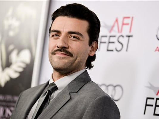 """FILE - In this Nov. 6, 2014 file photo, Oscar Isaac arrives at 2014 AFI Fest - """"A Most Violent Year"""" in Los Angeles."""