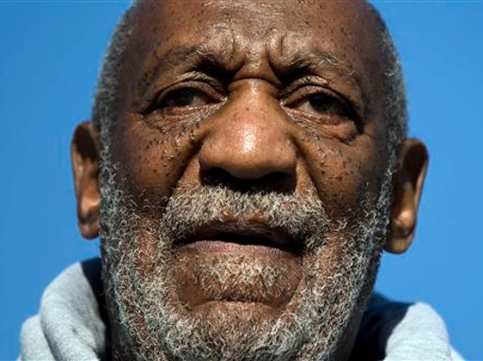 FILE - In this Nov. 11, 2014, file photo, comedian and Navy veteran Bill Cosby speaks during a Veterans Day ceremony in Philadelphia. Cosby says he paid women after having sex with them and went to great lengths to hide his behavior and the payments from his wife, The New York Times reported Saturday, July 18, 2015, after obtaining a copy of a transcript from a deposition Cosby gave a decade ago. (AP Photo/Matt Rourke, File)