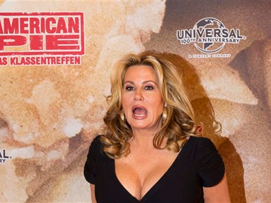 Actress Jennifer Cooleridge attends a photo-call for the film 'American Reunion' also known as 'American Pie:Reunion '  in Berlin, Thursday, March 29, 2012. (AP Photo/Markus Schreiber)
