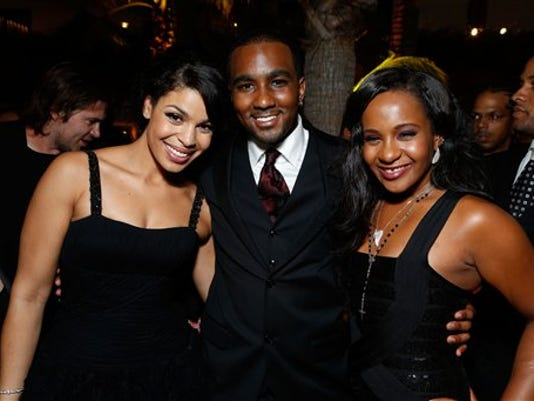 """Jordin Sparks, Nick Gordon, and Bobbi Kristina Brown at TriStar Pictures """"Sparkles"""" Premiere held at Grauman's Chinese Theatre on August 16, 2012 in Hollywood, California. Brown died Sunday, July 26, 2015."""