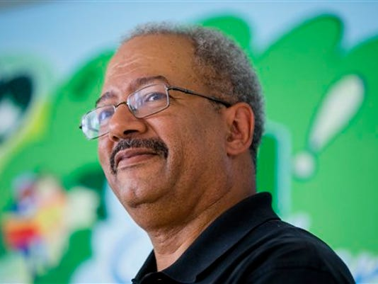 Rep. Chaka Fattah, D-Pa., attends a news conference Friday, Sept. 5, 2014, in Philadelphia.